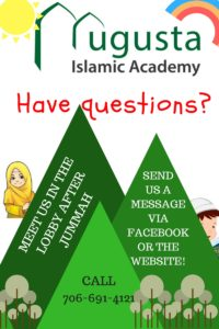 Staff From Augusta Islamic Academy ISAs Full Time School Will Be Available In The Masjid Lobby Friday February 9th After Jummah