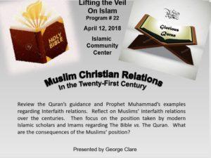 Lifting the Veil #22 – Muslim Christian Relations | Islamic Society